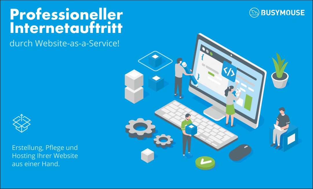 Professioneller Internetauftritt durch Website-as-a-Service